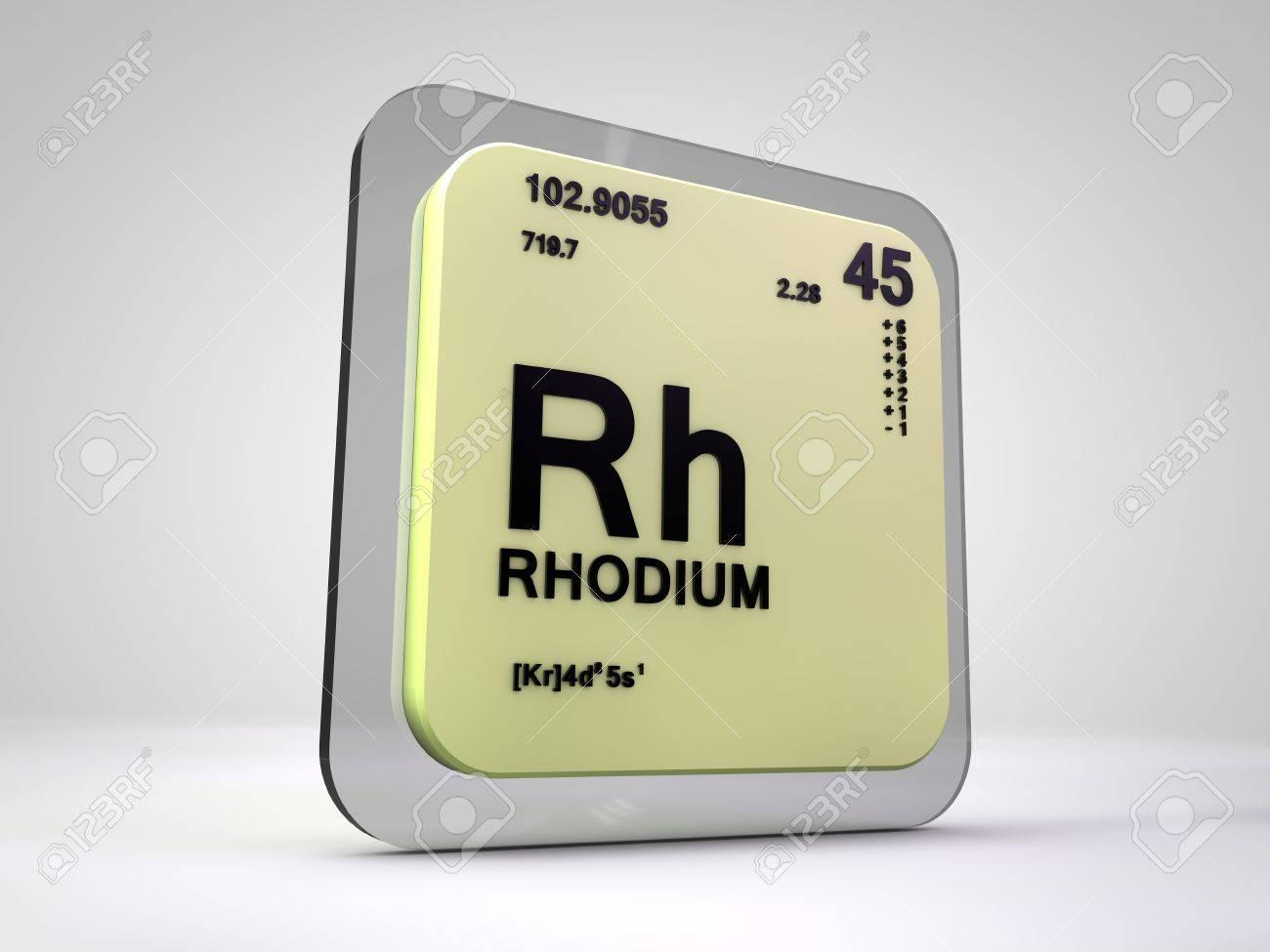 Rodio rh tabla peridica del elemento qumico 3d fotos retratos foto de archivo rodio rh tabla peridica del elemento qumico 3d urtaz Image collections