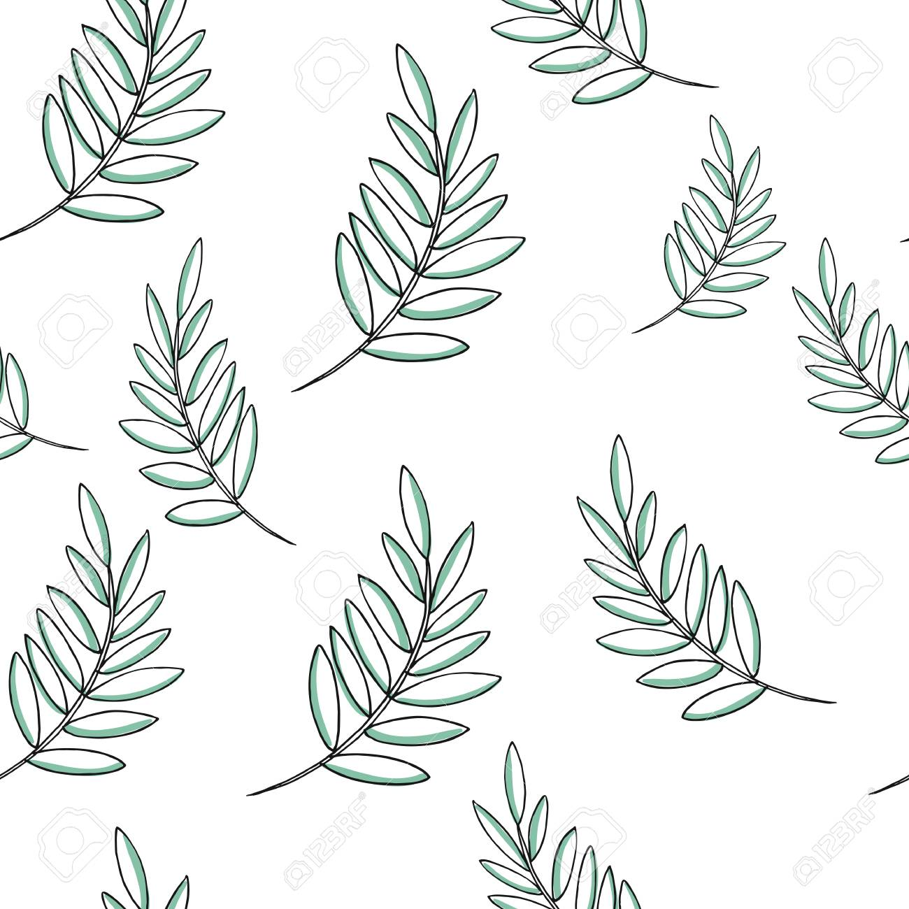 Leaf Vector Drawing Set Palm Leaves Pattern Herbal Engraved Royalty Free Cliparts Vectors And Stock Illustration Image 72270919