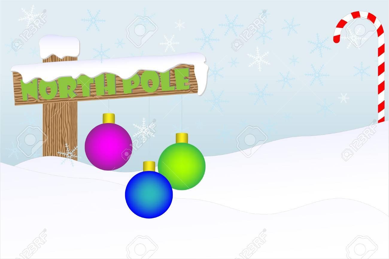North Pole christmas backround - 14797126