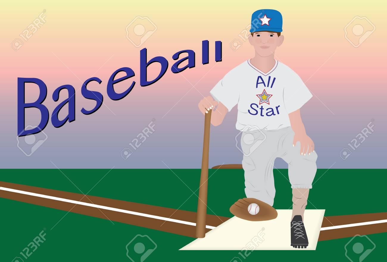 Young baseball player - 40089207