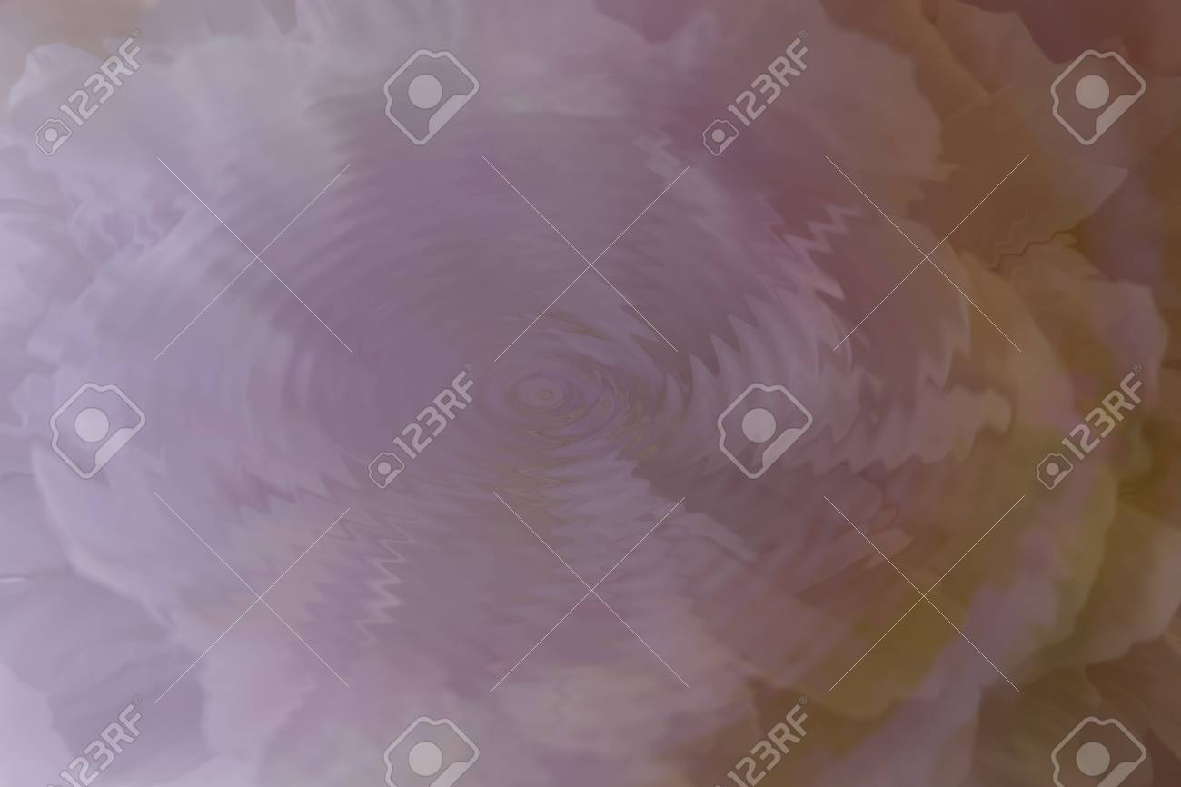 Water ripple over abstract flower - 42201316