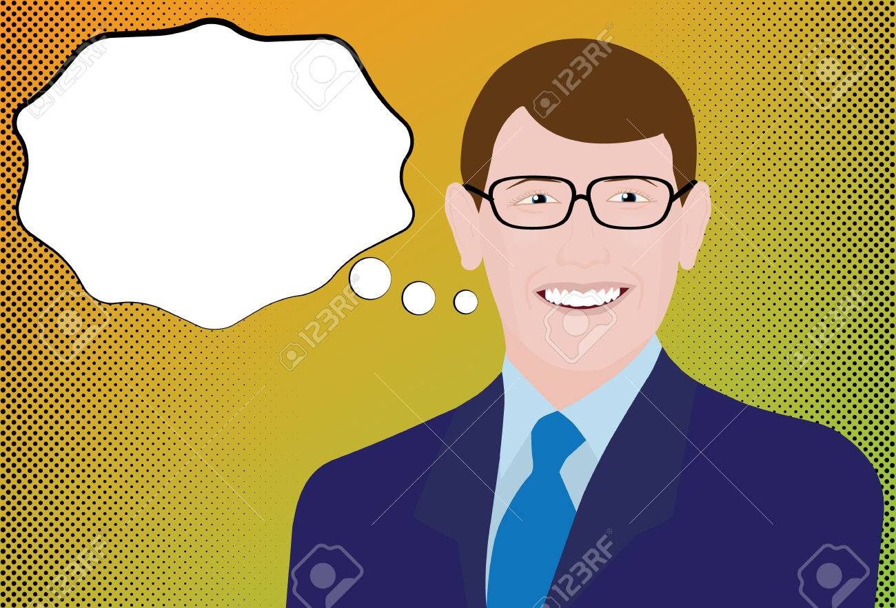 Halftone Businessman Comic - 43193889