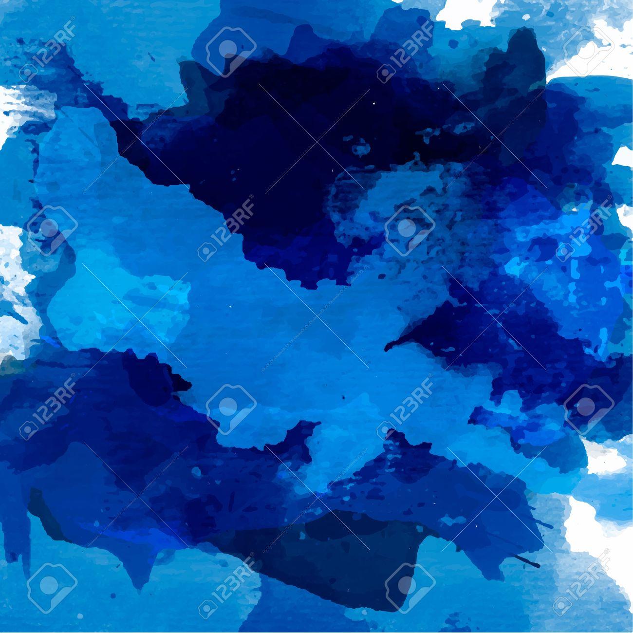 Résumé Palette Daquarelle De Couleurs Bleu Couleur De Mélange