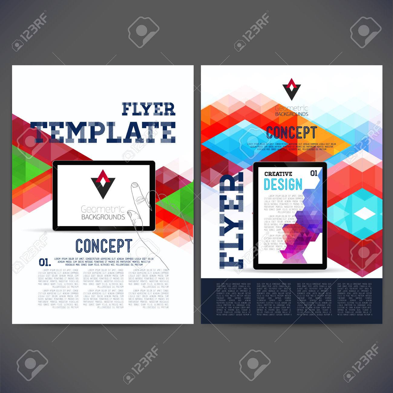 abstract flyer brochure design templates web sites page abstract flyer brochure design templates web sites page leaflet geometric triangular