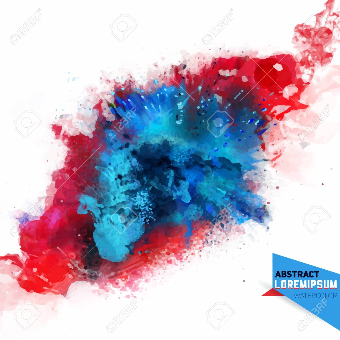 Vector abstraction from a mixture of colors, explosion, color spray, fly away, stains with a spray of water colors,the author's work.Holi.Background for banner, poster, identity,card, web design. - 110177340