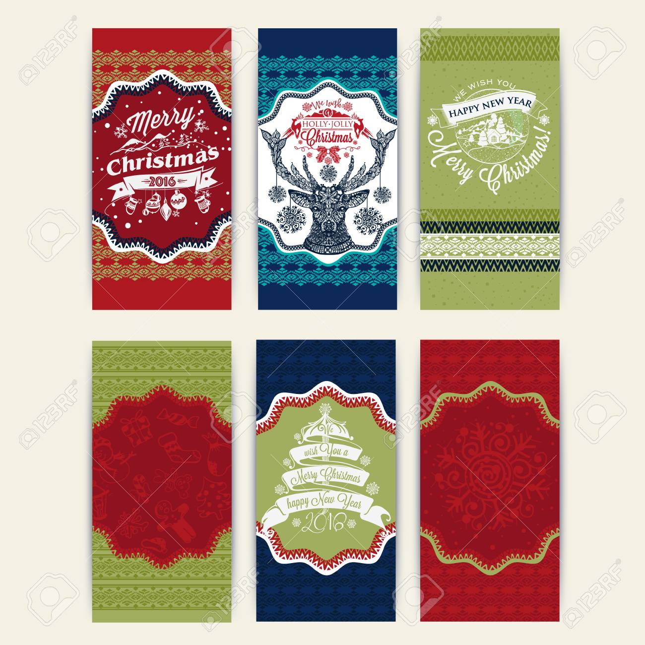 Biglietti Di Natale Modelli.Buon Natale Set Di Sei Modelli Di Natale E Biglietti Di Auguri Per Le Congratulazioni