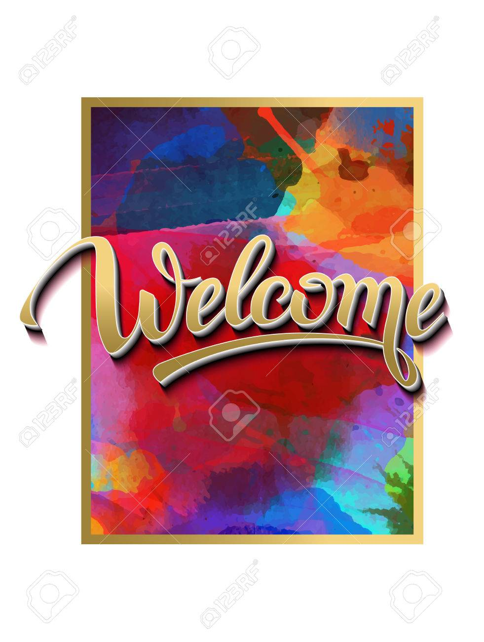 Welcome sign symbol word welcomehand lettering calligraphic welcome sign symbol word welcomehand lettering calligraphic font letters and shade buycottarizona Gallery