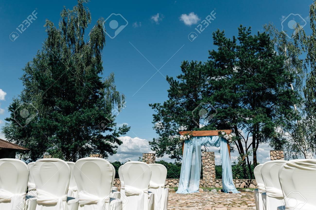 Outdoor Wedding Decorations Wood Blue