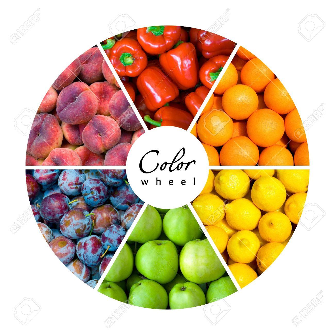 Obst Und Gemüse-Farbrad (6 Farben) Lizenzfreie Fotos, Bilder Und ...