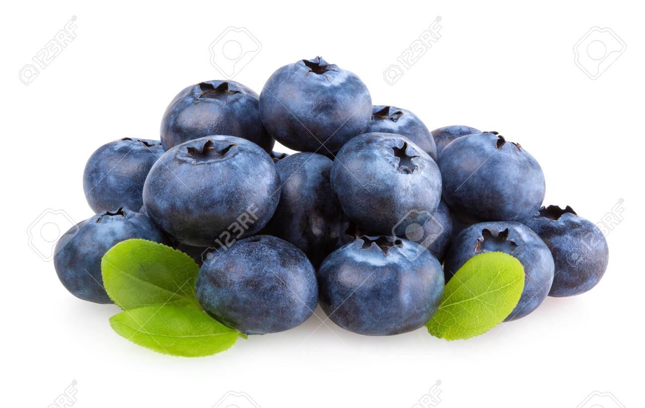 Fresh blueberries isolated on white background - 126572723
