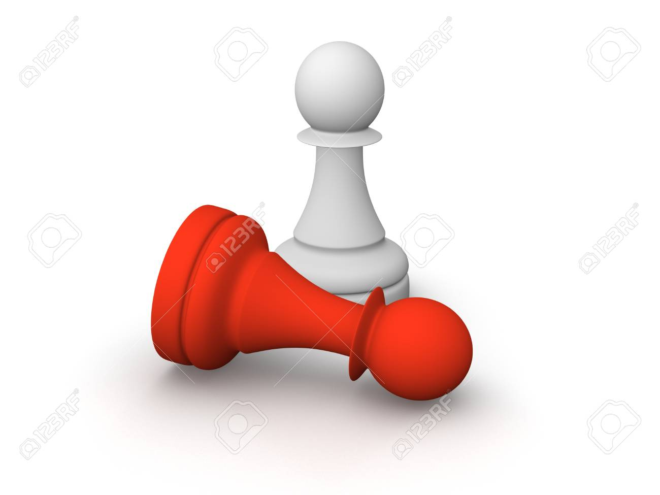 White and red pawns Stock Photo - 13097377