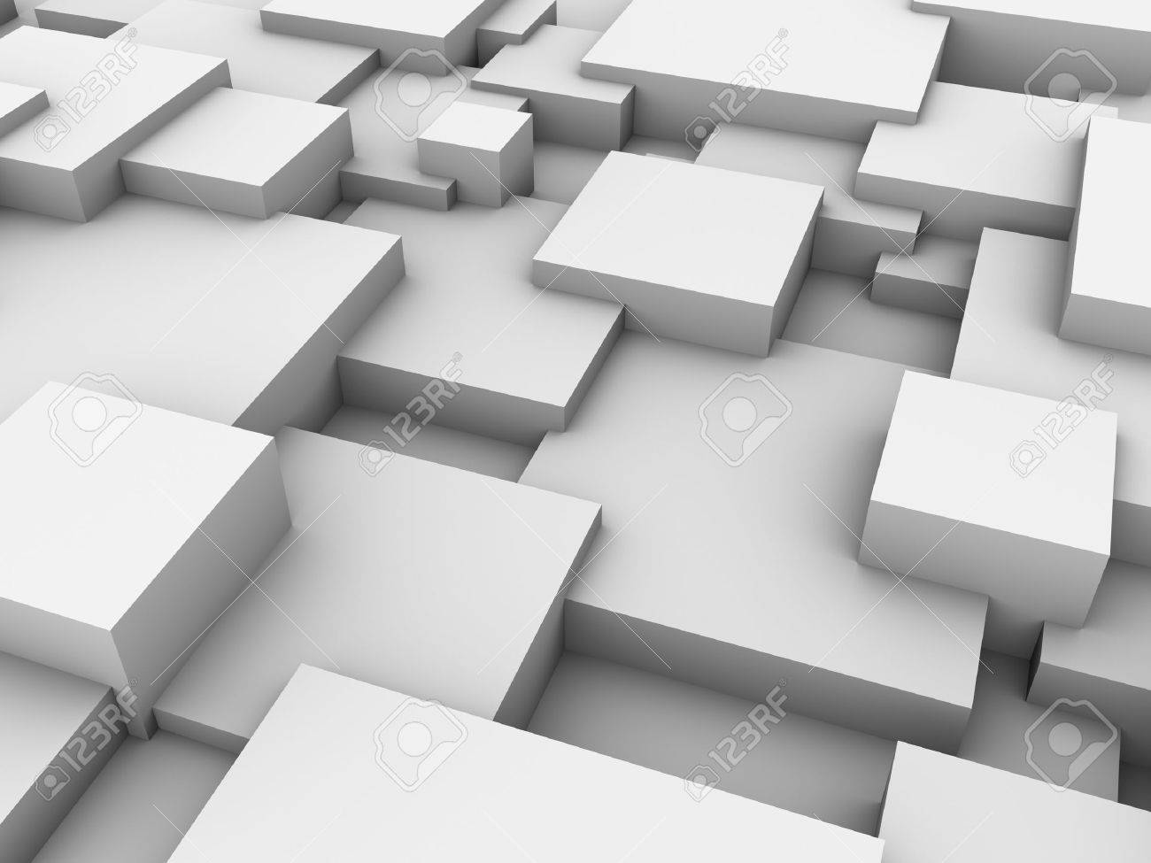 Abstract background of 3d blocks - 13097513