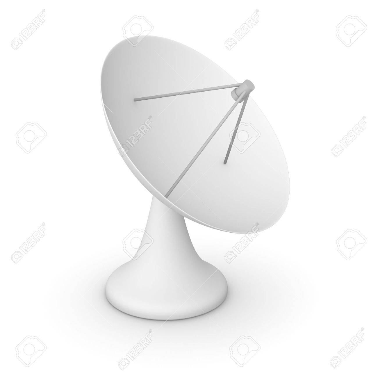simple modèle 3d de l'antenne parabolique banque d'images et photos