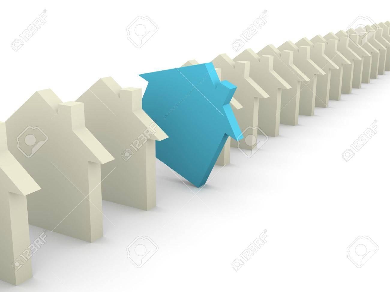 Choosing house concept Stock Photo - 15278119