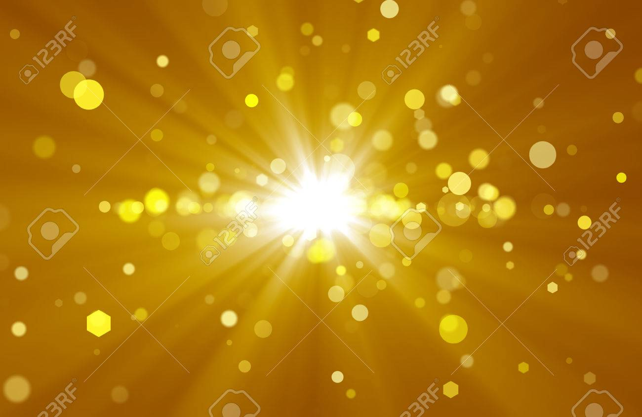 abstract background with golden rays and spots stock photo 32729643