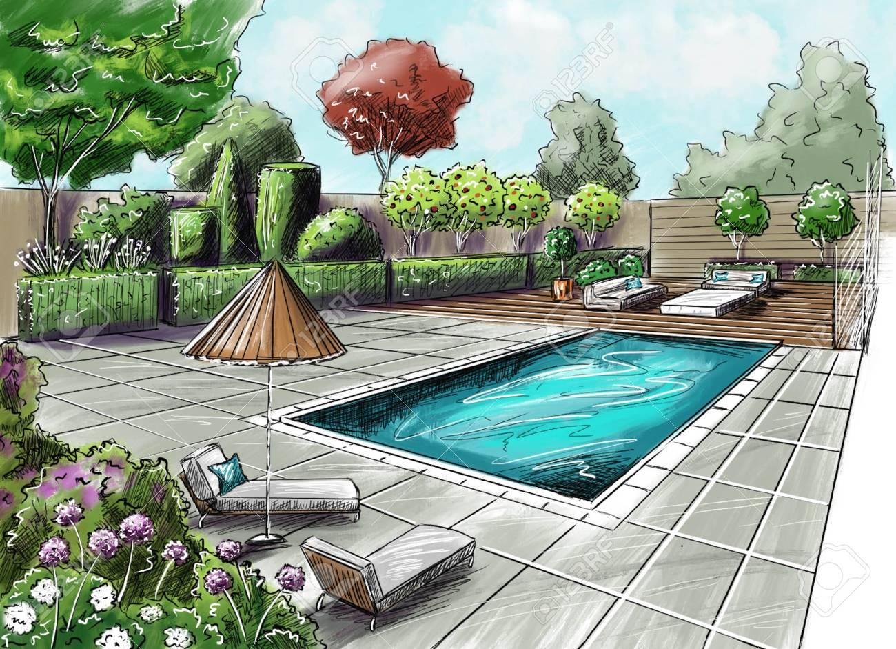 Figure Landscape Design Project Landscape Architecture Plan Stock Photo Picture And Royalty Free Image Image 104419135