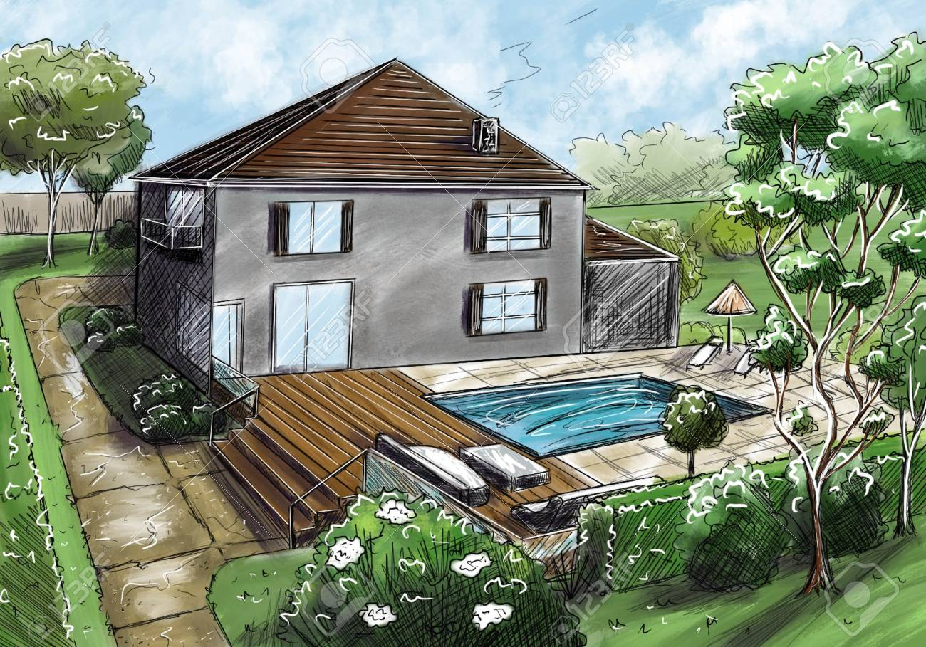 Figure Landscape Design Project Landscape Architecture Plan Stock Photo Picture And Royalty Free Image Image 104419137