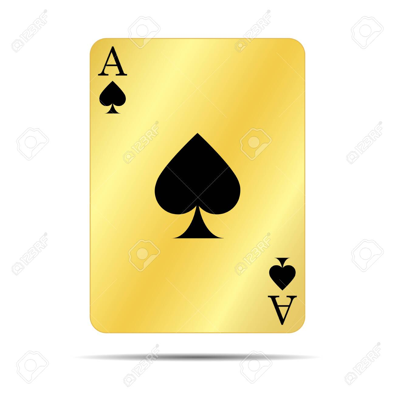 gold ace of spades - 132142956