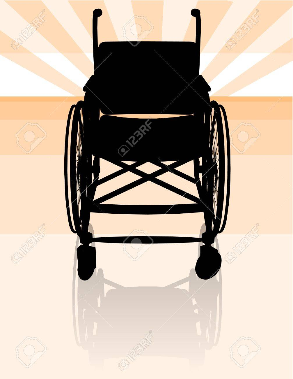 Empty wheelchair silhouette front Stock Vector - 4252689