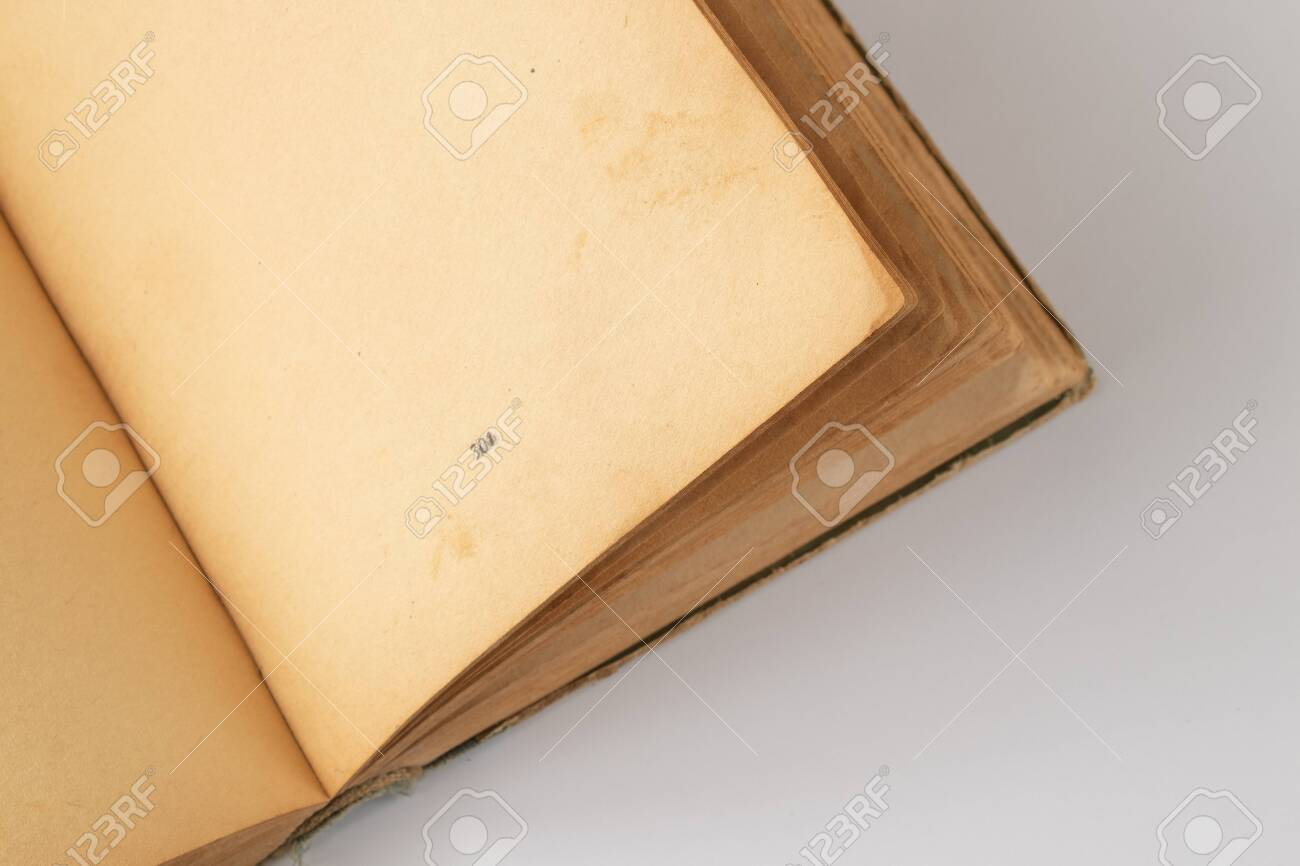 book with blank pages opened on an isolated background - 148135385