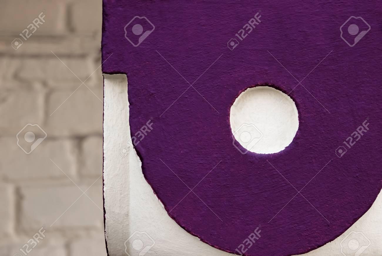 Texture Motif Fond Vieille Peinture Mur En Béton Peignez De Manière Abstraite Sur Le Fond De Béton Des Cercles Pourpres Brillants Avec Une Nuance