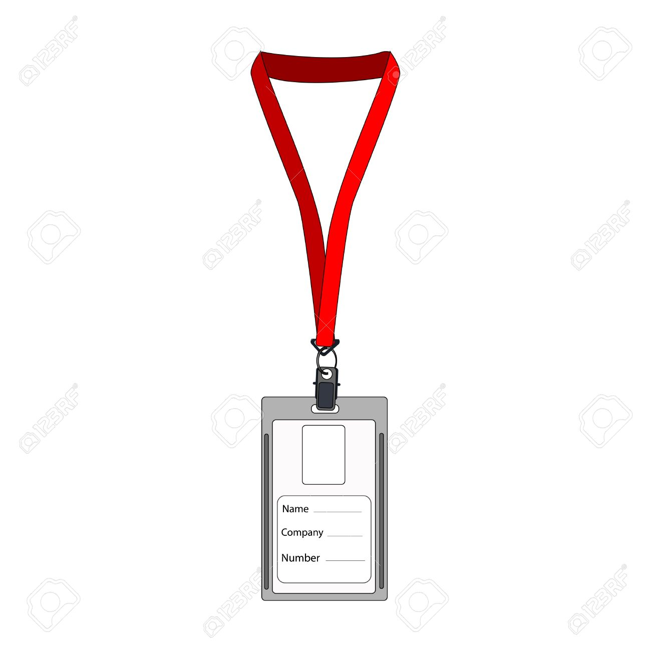 illustration of badge employee badge employee card employee