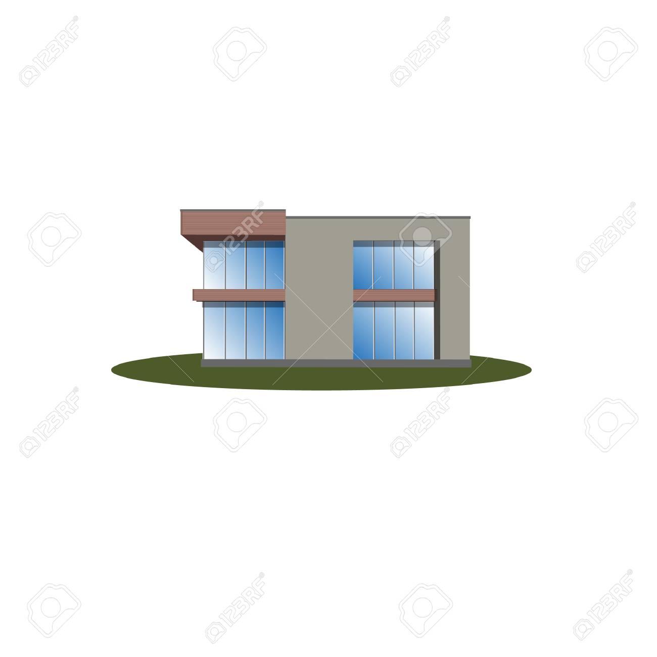 Modernes Haus, Architektur, Gebäude, Isoliert Auf Weiß Lizenzfrei ...