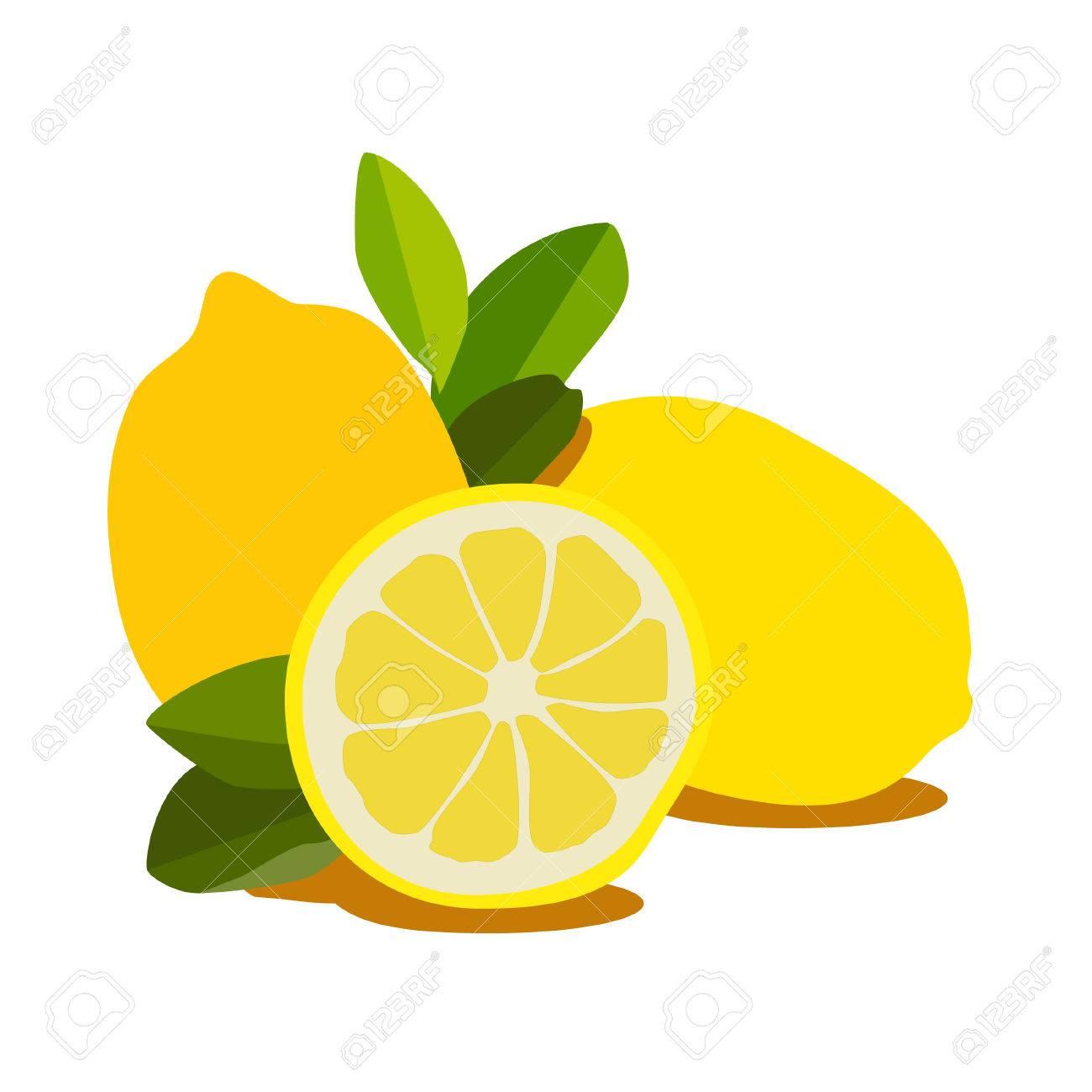 レモンレモンのスライス分離したレモンのイラストのイラスト素材