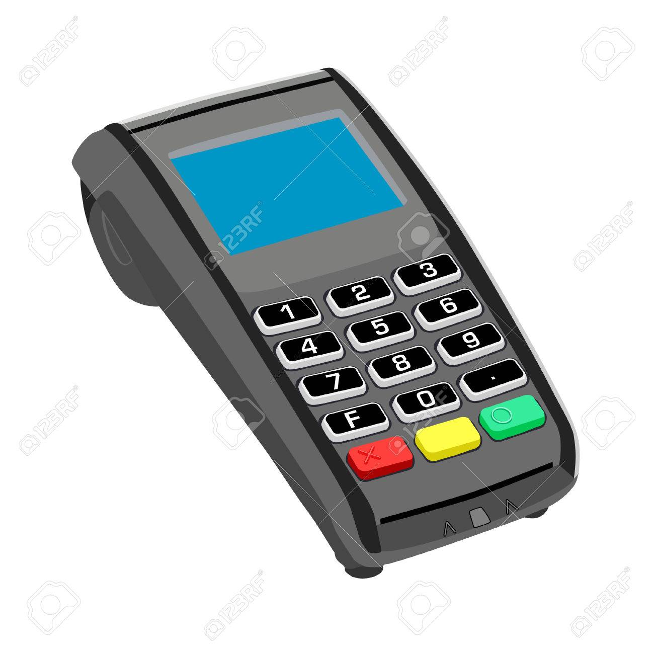 Pos Pos Machine Credit Card Credit Card Terminal Stock Vector