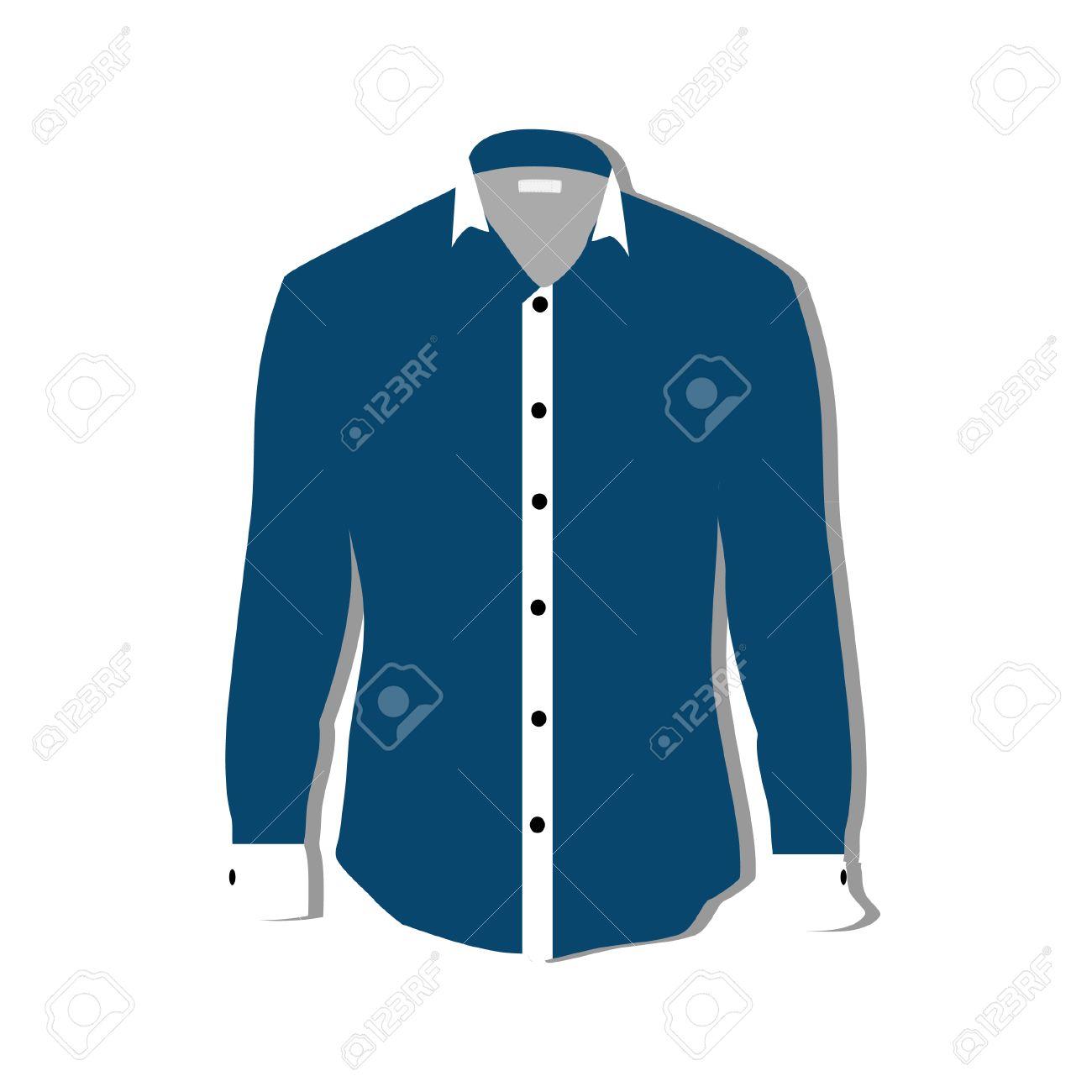 Ilustración De La Camiseta, Ropa, Hombre, Camisa Formal, Camisa Azul ...