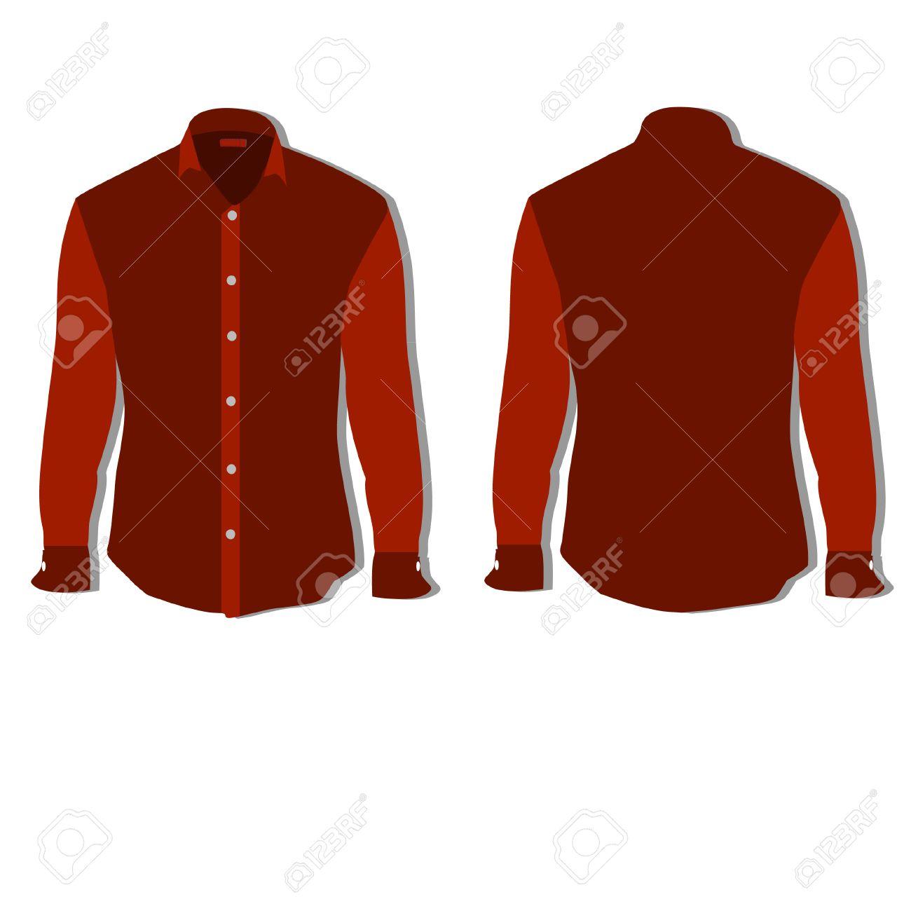 Illustration Of Tshirt Clothes Man Shirt Formal Shirt Royalty - Red t shirt template