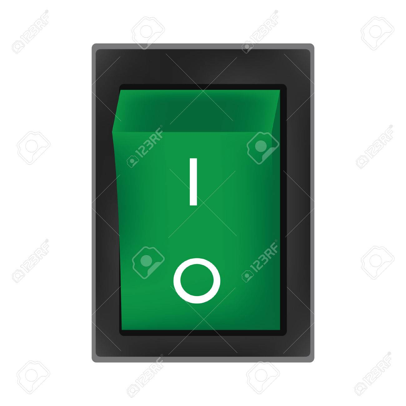 Grün Abschaltung Taste Vektor, Auf Aus-Schalter, Off-Symbol ...