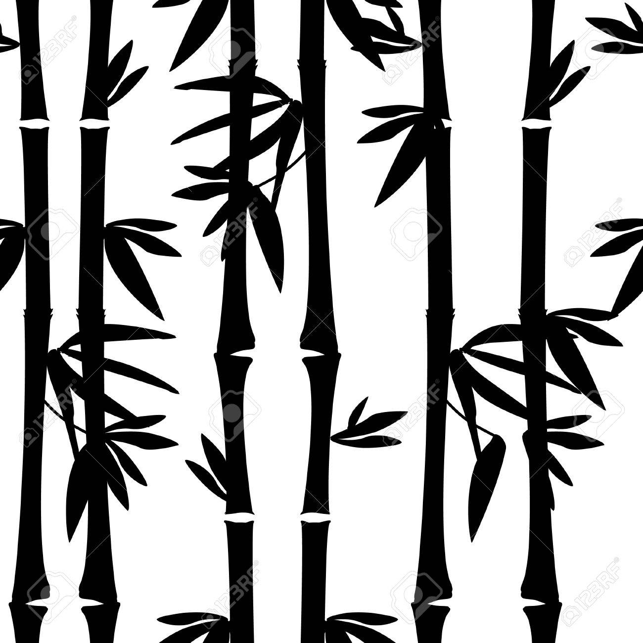 black bamboo seamless pattern vector bamboo tree leaves branches royalty free cliparts vectors and stock illustration image 40211256 black bamboo seamless pattern vector bamboo tree leaves branches