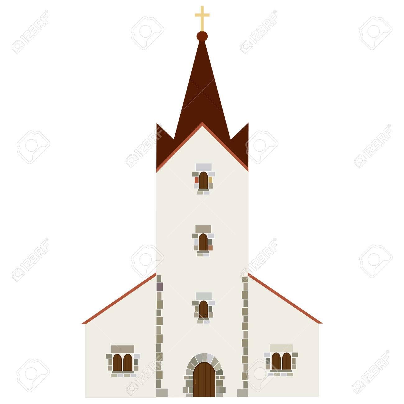 ベクトルのアイコンウェディング チャペルキリスト教カトリック教会