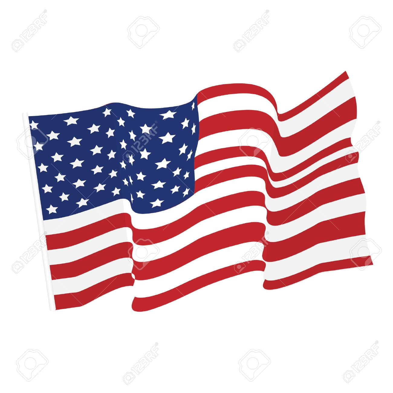 american waving flag vector icon national symbol red white rh 123rf com waving flag vector mockup waving flag vector graphic