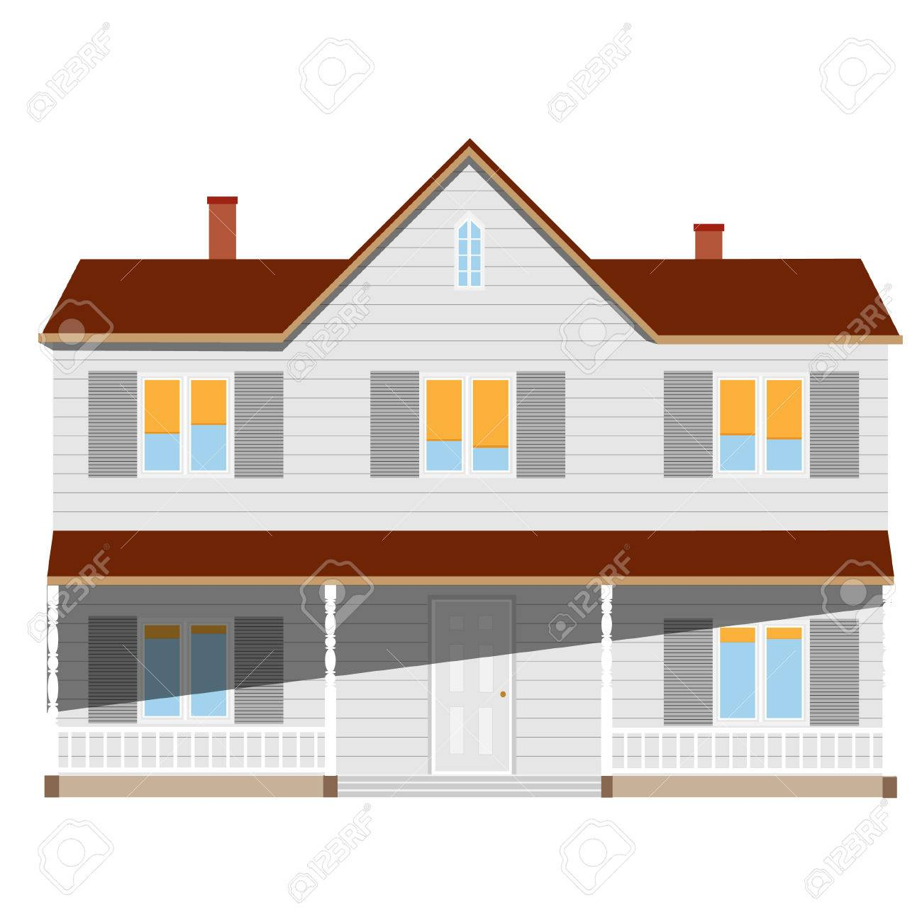 Fabulous New Cottage House Two Story Real Estate Home Vector Isolated Download Free Architecture Designs Embacsunscenecom