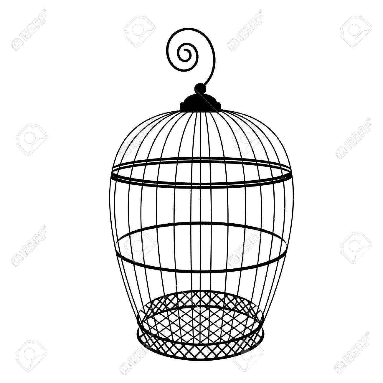 birdcage vector isolated bird cage silhouette vintage birdcage rh 123rf com vintage birdcage clipart free birdcage clipart free download