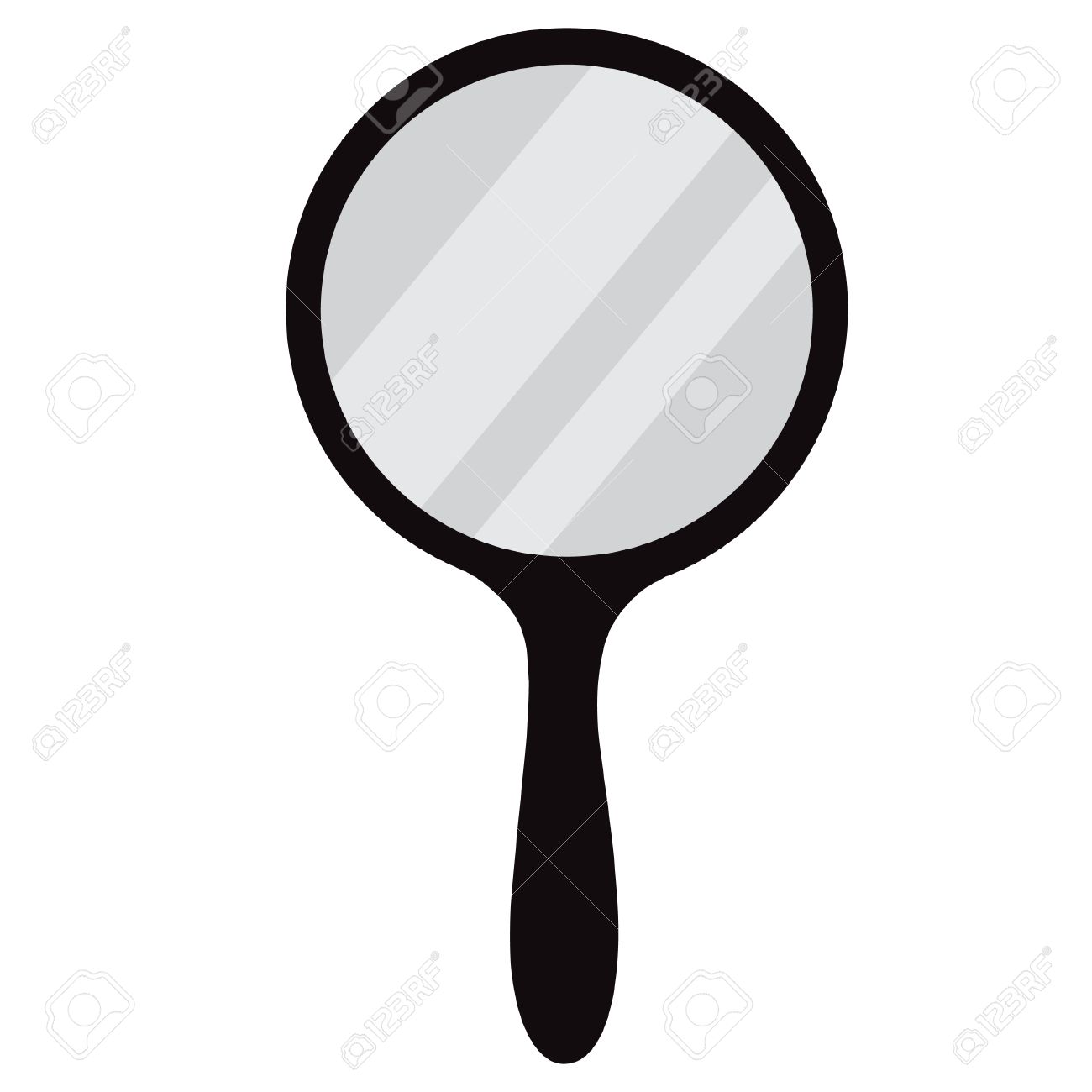 hand mirror vector. round, black hand mirror vector isolated. icon stock - 44050336 i