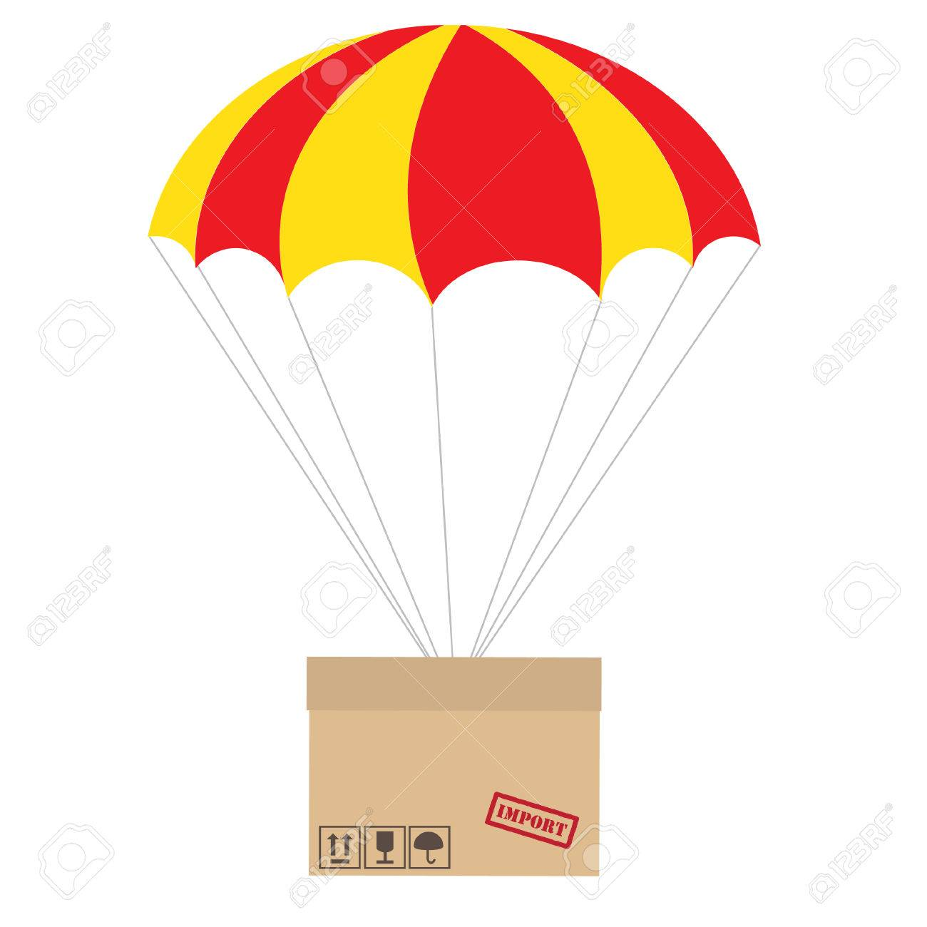 package flying with parachute vector isolated delivery service rh 123rf com parachute vector graphics parachute vector free download