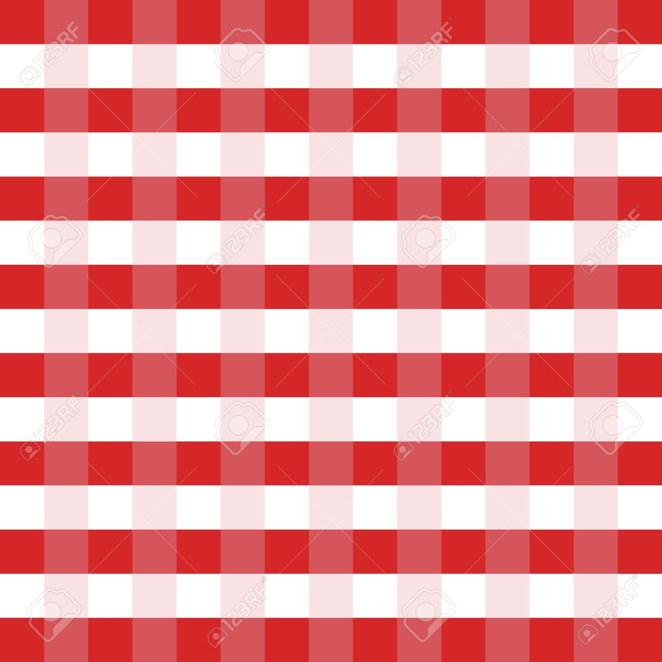 Checkered Tablecloth Red And White Vector Illustration. Picnic Table Cloth  Stock Vector   44023974