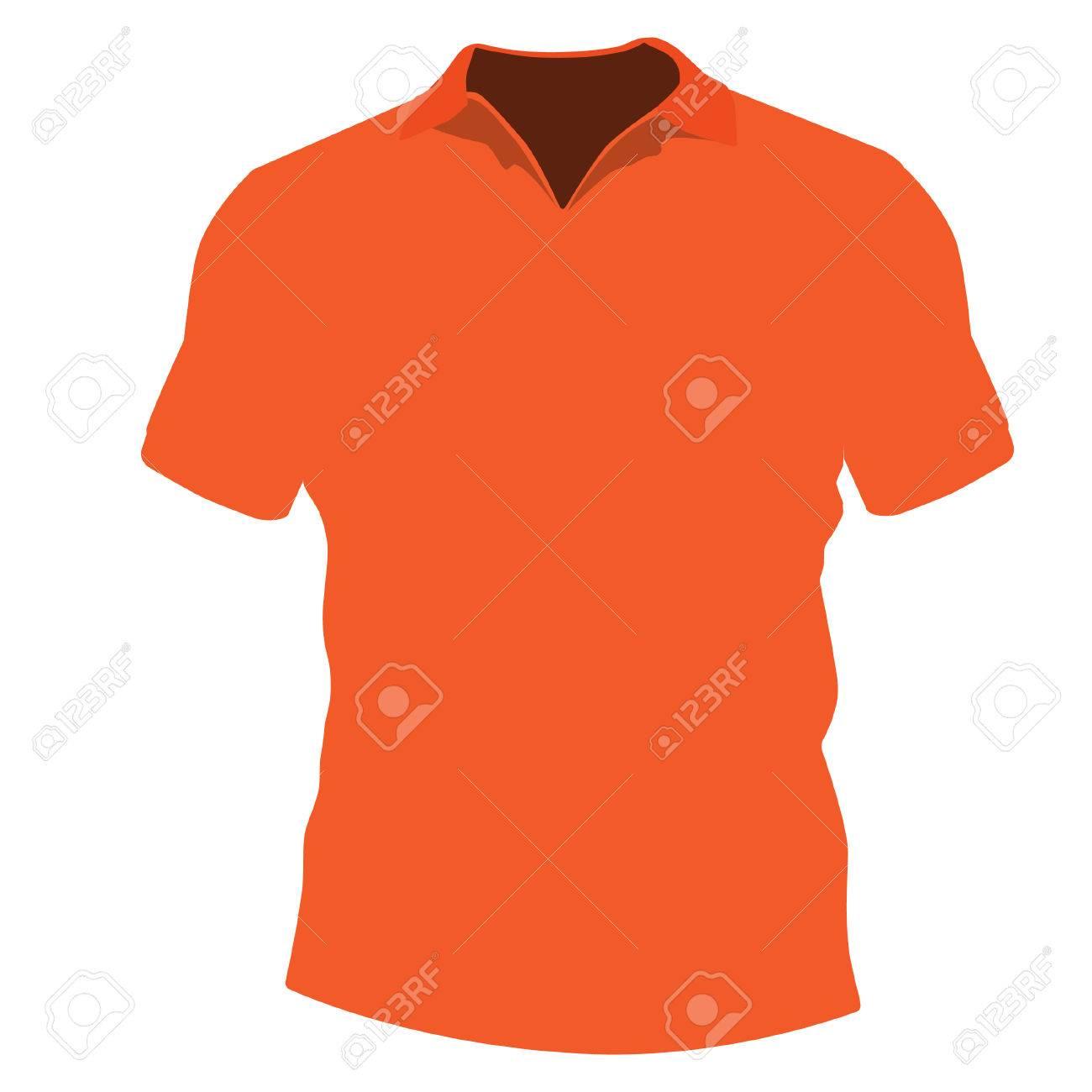 Shirt design illustrator template - Orange T Shirt Template Vector Illustration T Shirt Design T Shirt