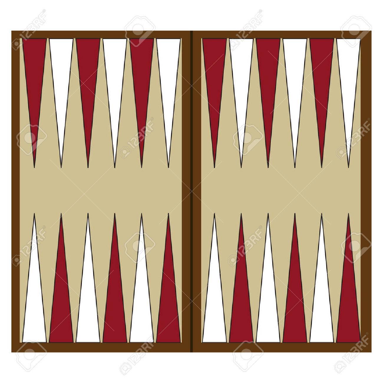 Tablero De Backgammon De Madera Ilustracion De Juego Del Vector