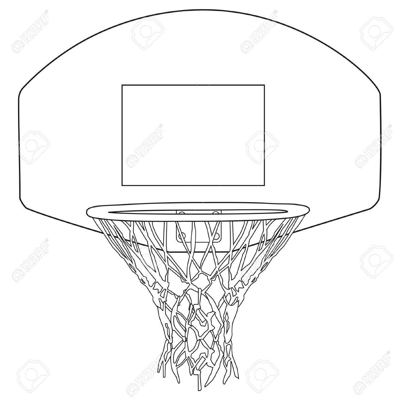 basketball hoop outline drawings vector illustration basketball