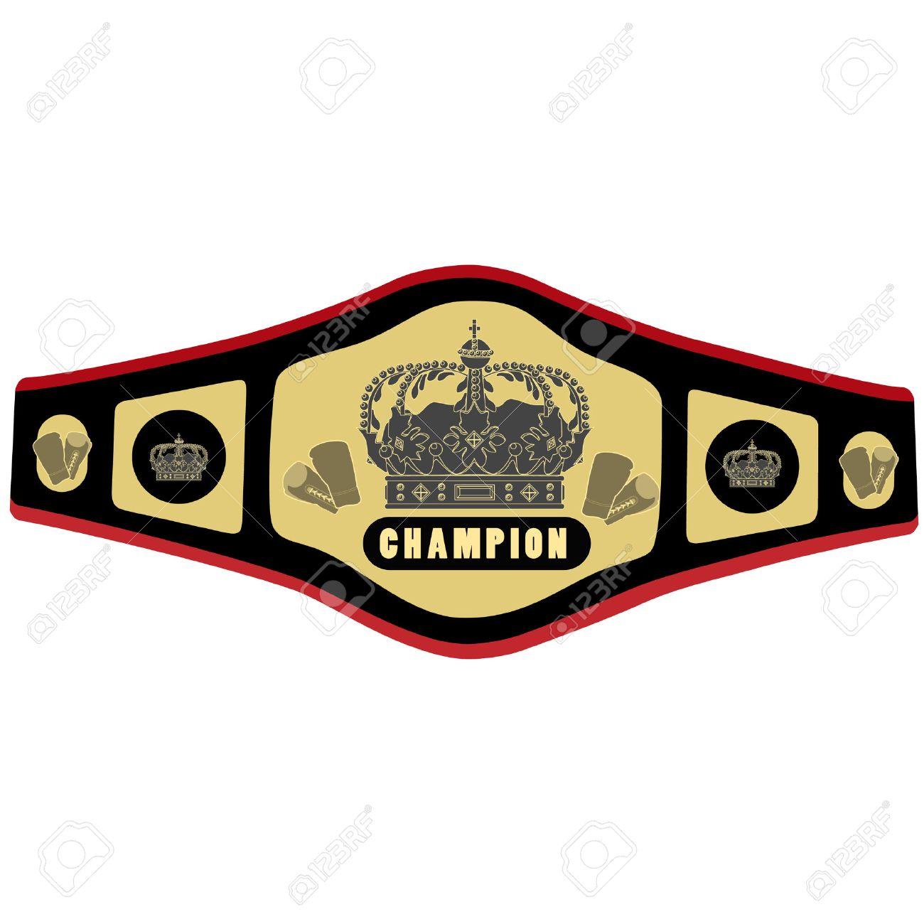 Boxing belt vector illustration. Competition belt. Golden champion belt. Championship belt icon - 44024098