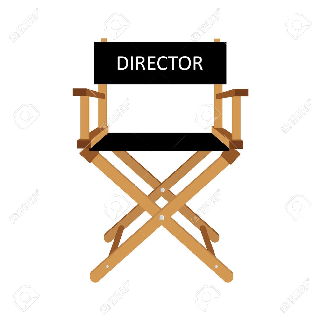 Film director chair vector illustration. Wooden movie director chair. Director chair isolated Stock Vector  sc 1 st  123RF.com & Film director chair vector illustration. Wooden movie director..