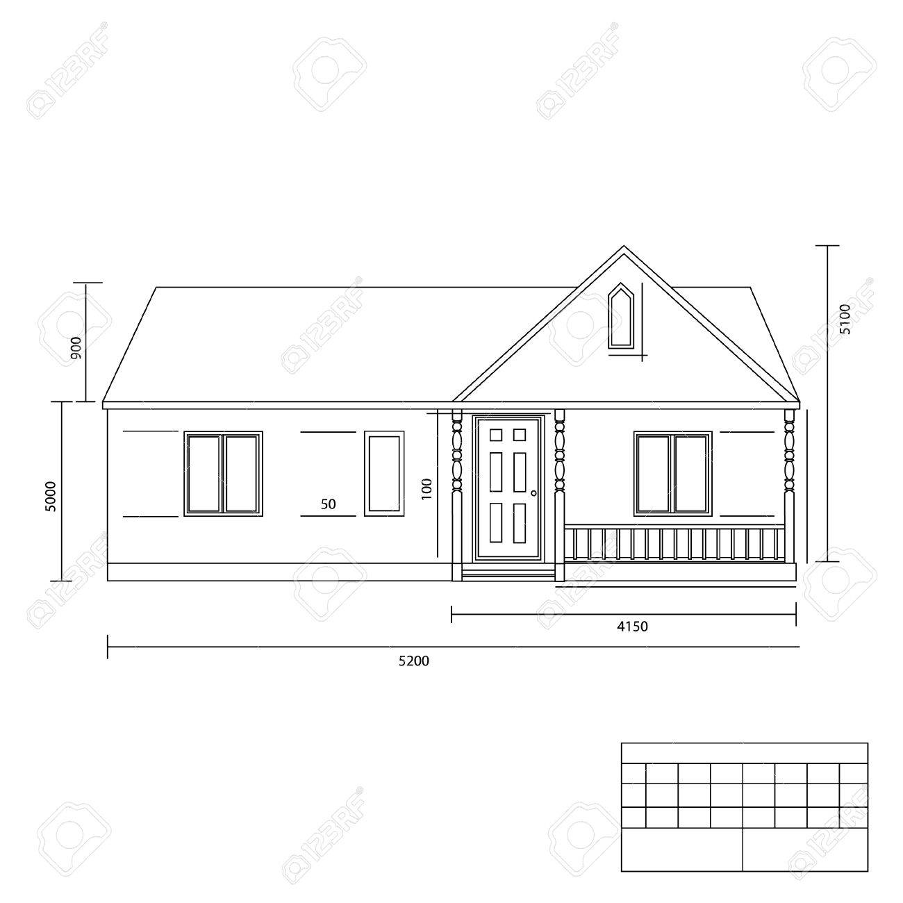 House Plan Vector Illustration Building Plans Architect Plans