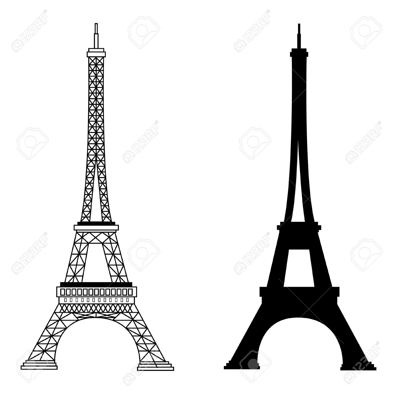 France famous construction eiffel tower vector illustration france famous construction eiffel tower vector illustration black silhouette and outline drawing stock vector thecheapjerseys Gallery