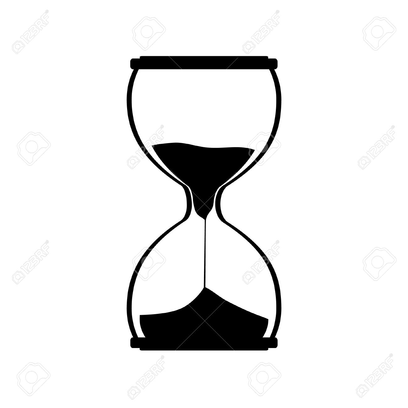 Sandglass icon  Hourglass Silhouette Vector Icon. Sand Watch. Sand Glass. Sand ...