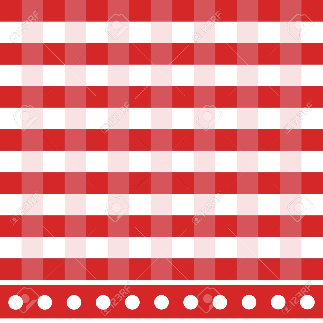 Red And White Checkered Tablecloth Vector Illustration. Picnic Table Cloth  Stock Vector   44097129
