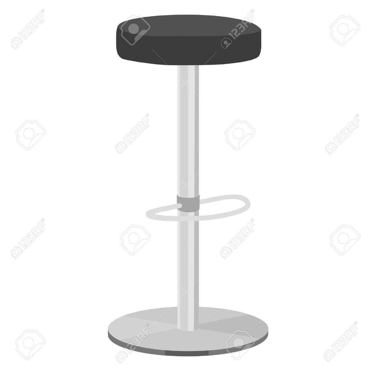 Black bar stool vector illustration. Bar chair. High chair. Bar interior design.  sc 1 st  123RF Stock Photos & Black Bar Stool Vector Illustration. Bar Chair. High Chair. Bar ... islam-shia.org